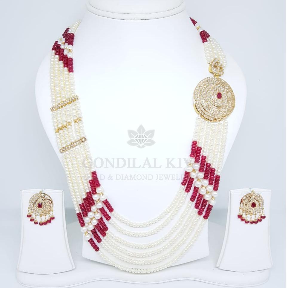 18kt gold necklace set gnl176 - gft439