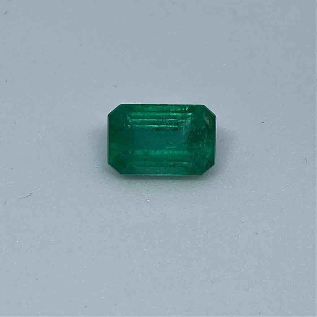 5.35ct octagonal green emerald-panna