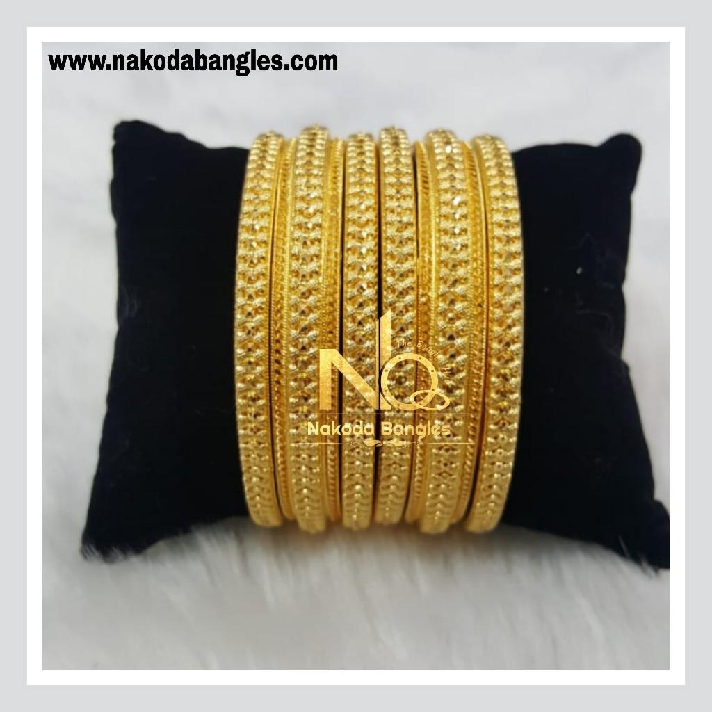 916 Gold Patra Bangles NB - 772