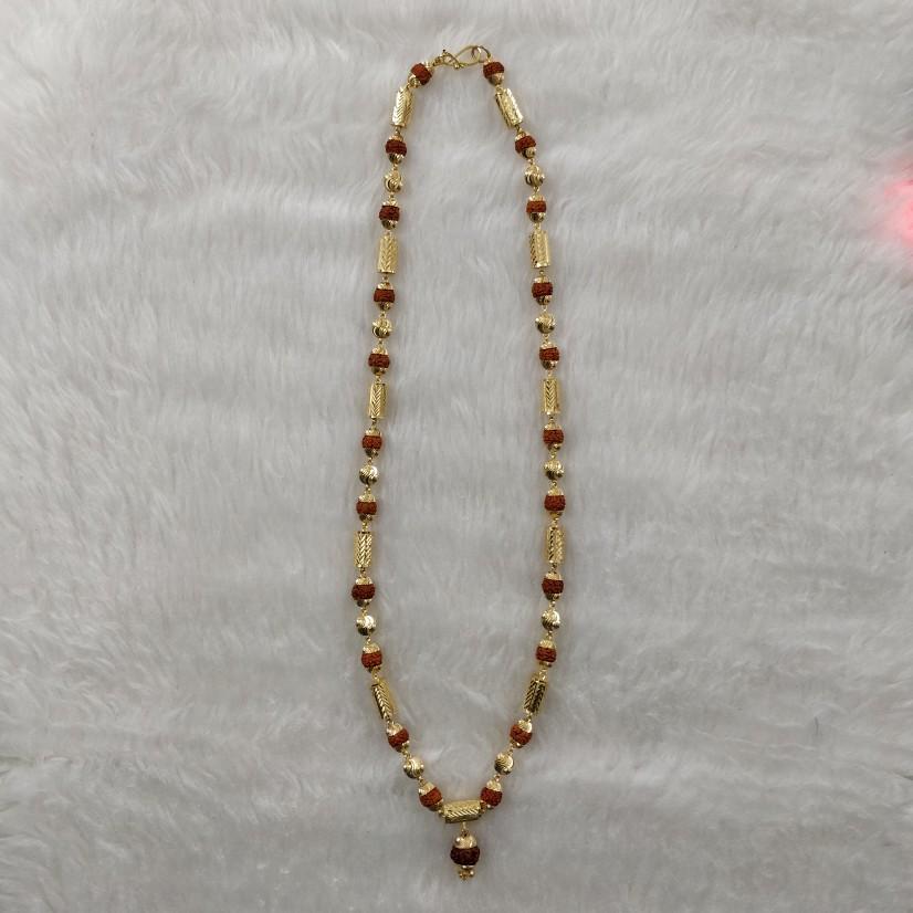 916 Gold Gent's Antique Rudraksh Mala