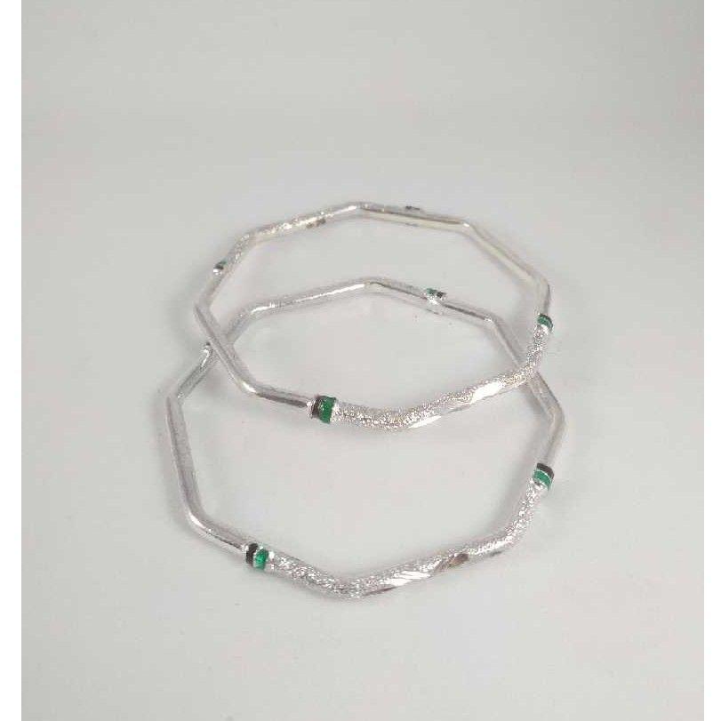 Silver Fancy Bangles. NJ-B01048