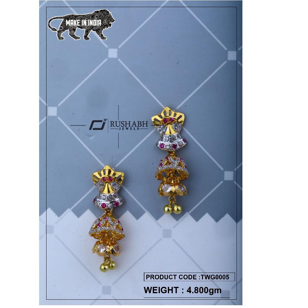 18 carat Gold ladies zummer tops  long earrings twg0005