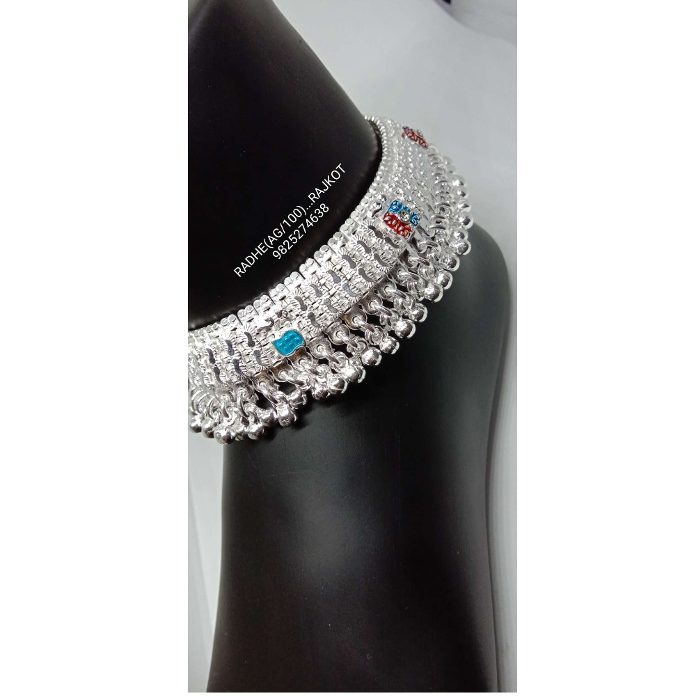 999 Silver Attractive Payal RJ-P007