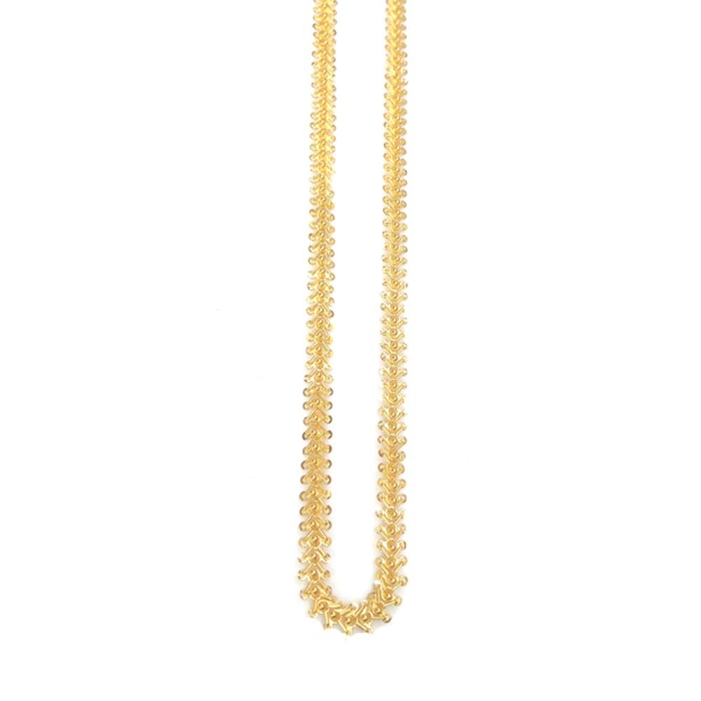 916 Gold Hallmarked Antique Gents Chain