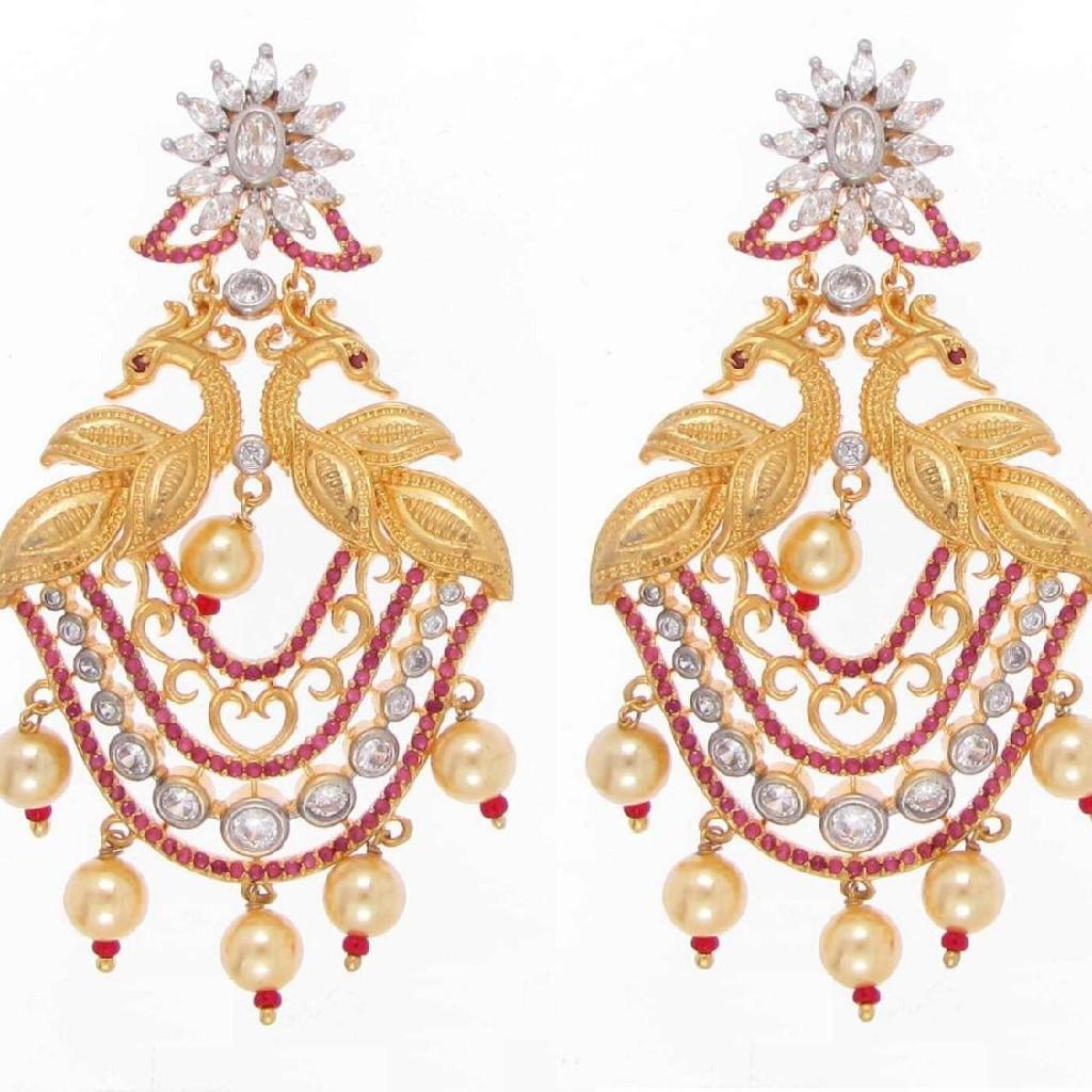 92.5 sterling silver exclusive bridal earrings ml-016