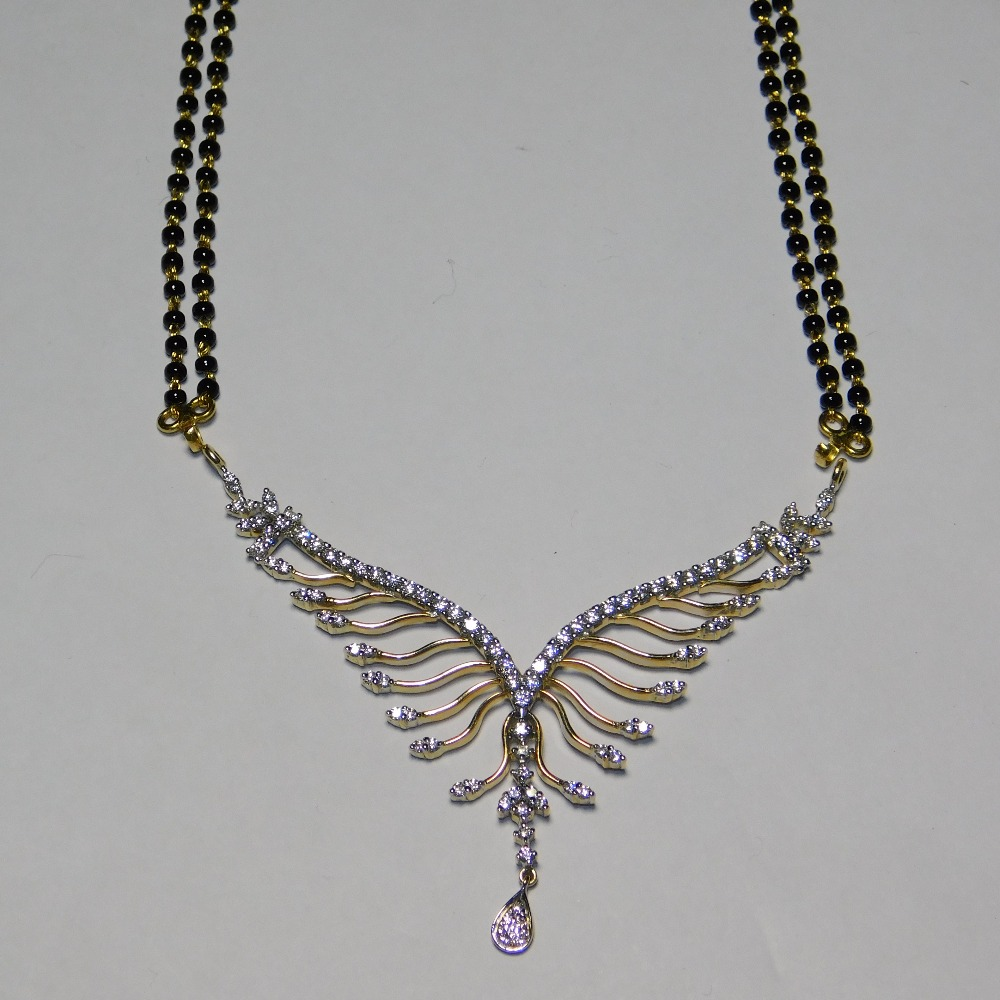 18K gold diamond mangalsutra agj-tm-26