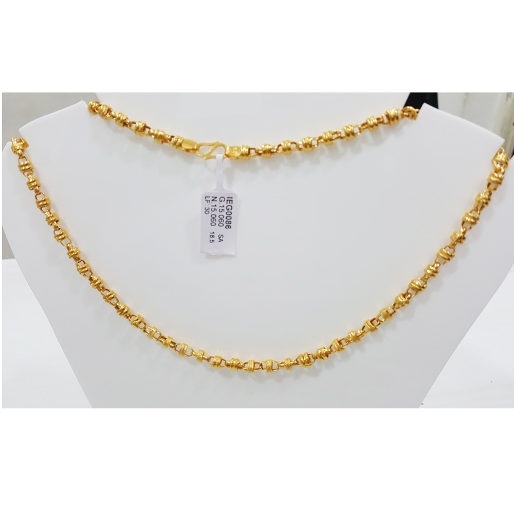 22KT Gold Antique Indo Italian Chain