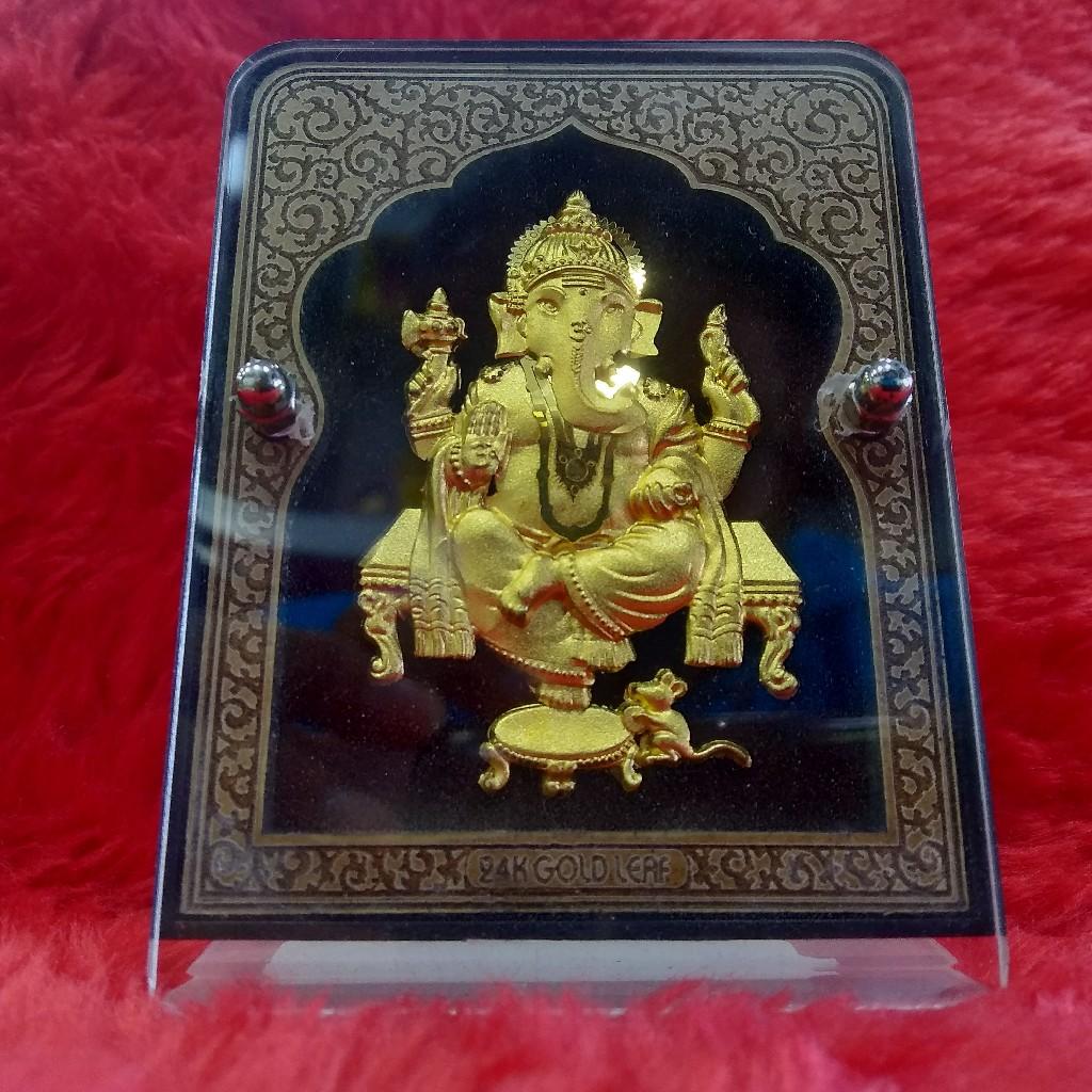 24KT Gold Leaf Ganesh ji Gift article