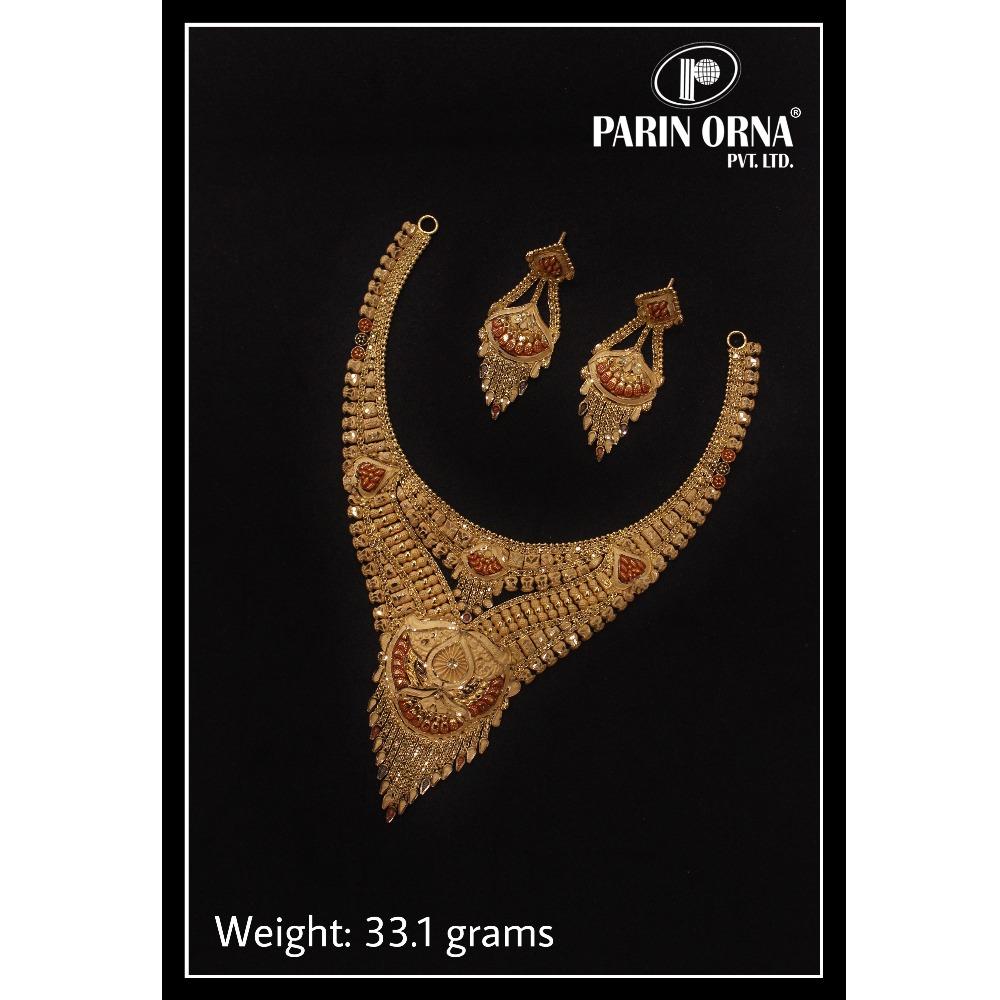 22KT Gold Designer Necklace Set PO-N05