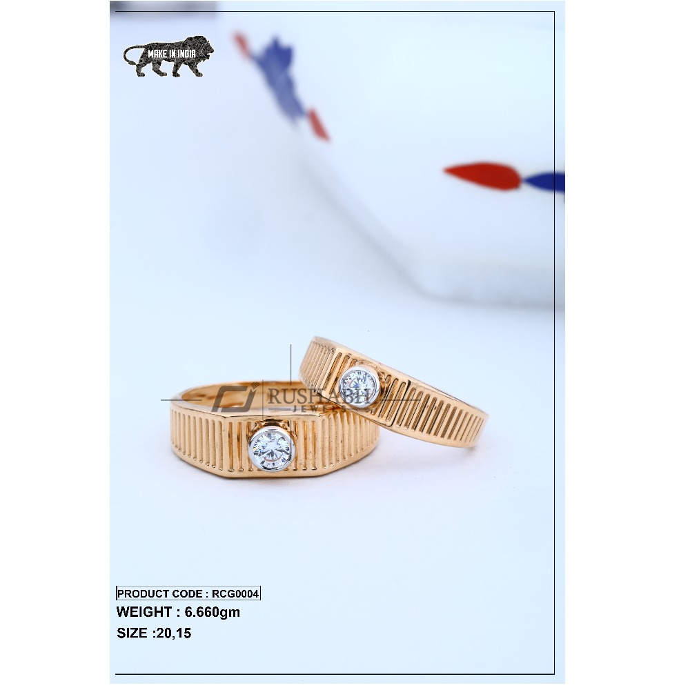 Rose gold couple ring rcg0004