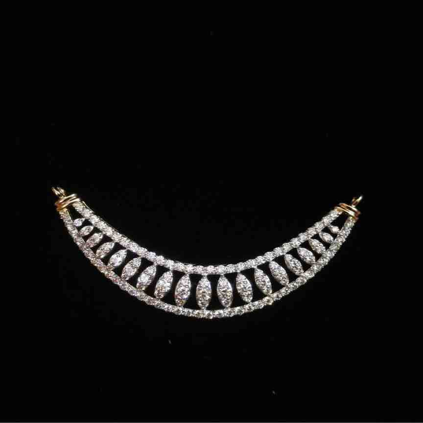 18kt rose gold attractive real diamond mangalsutra pendant