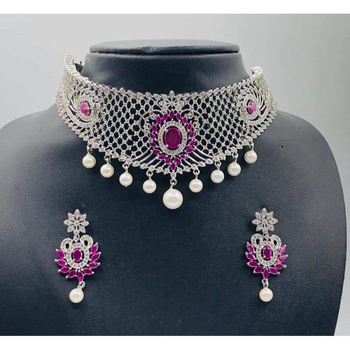 92.5 chokar diamond necklace