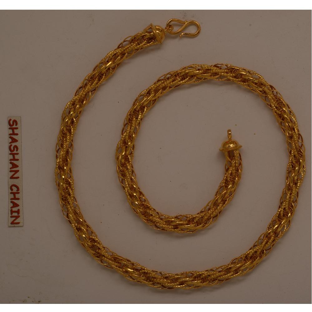 22KT hallmarked fancy handmade Chain