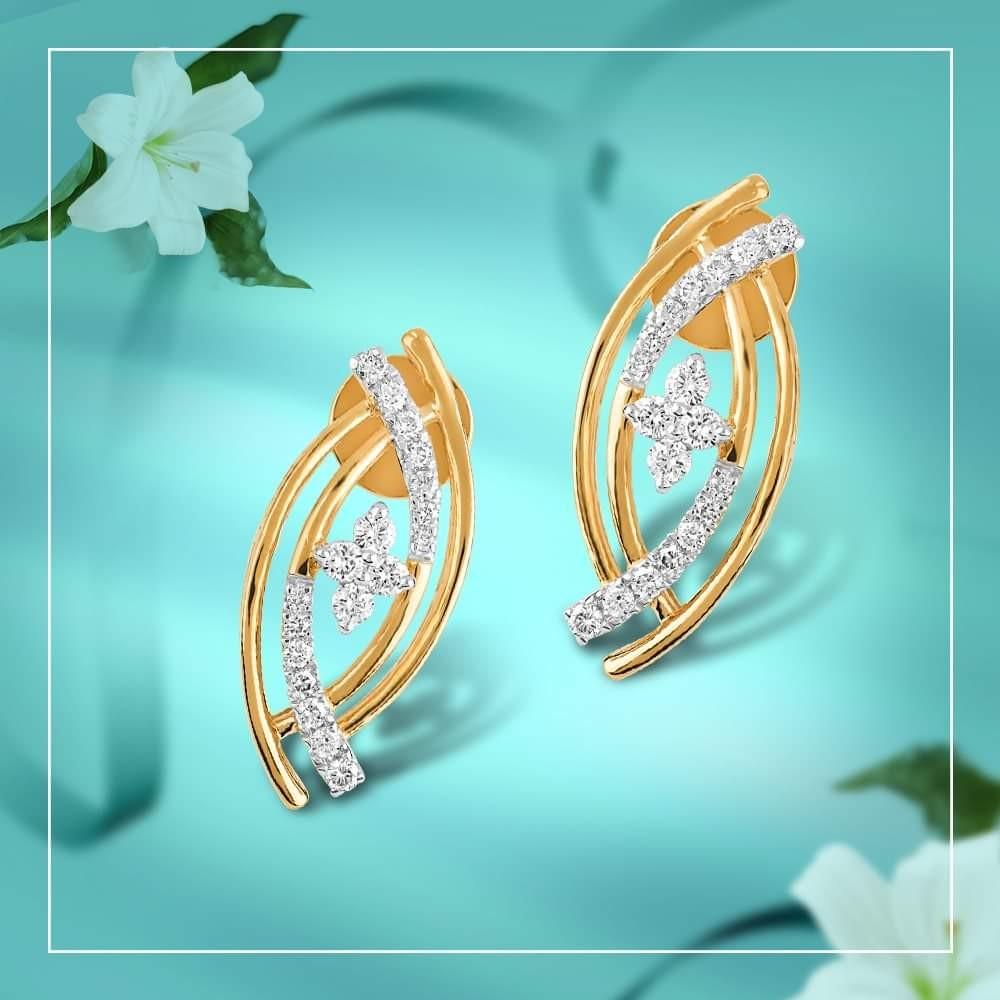 22KT Yellow Gold Dhanishta Earrings For Women
