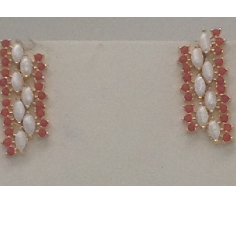 Corals And Freshwater White Marquise Pearls ChokerNecklace Set JNC0056