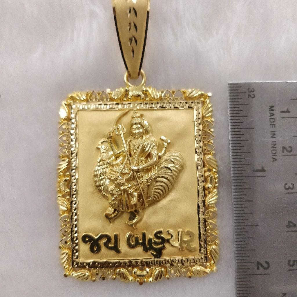 916 Gold Fancy Gent's Bahuchar Maa Pendants