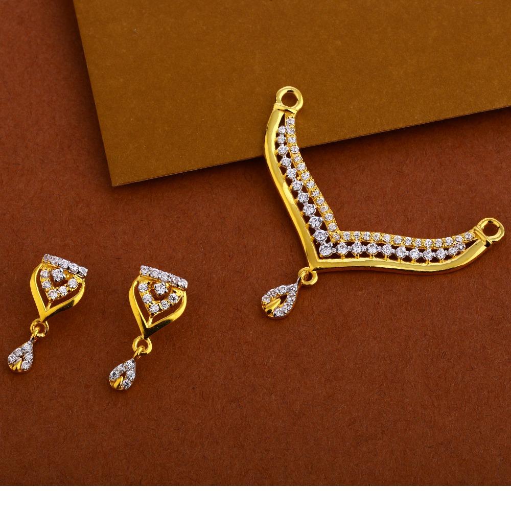 22KT Gold Exclusive Mangalsutra Pendant Set MP265