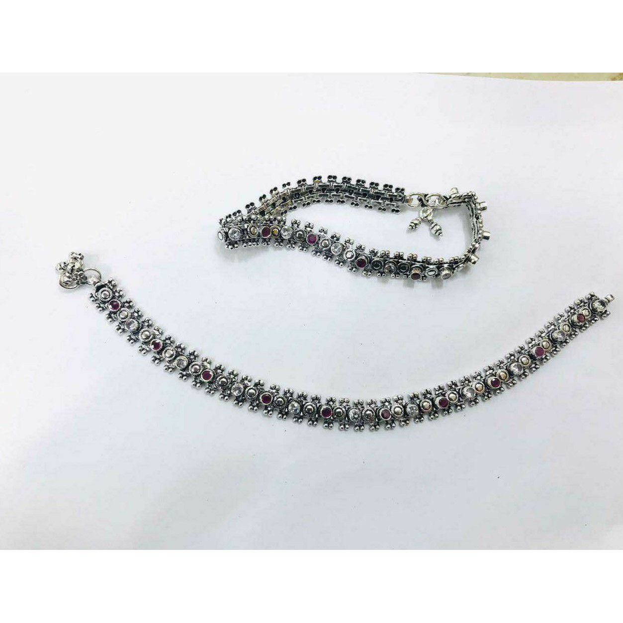 92.5 Sterling Silver Perfect Look Anklet(Payal) Ms-3804