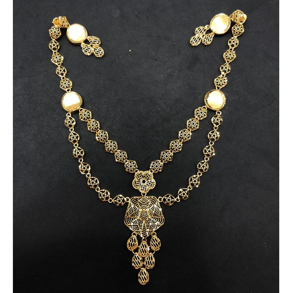 22K Gold Double Layer Turkish Necklace