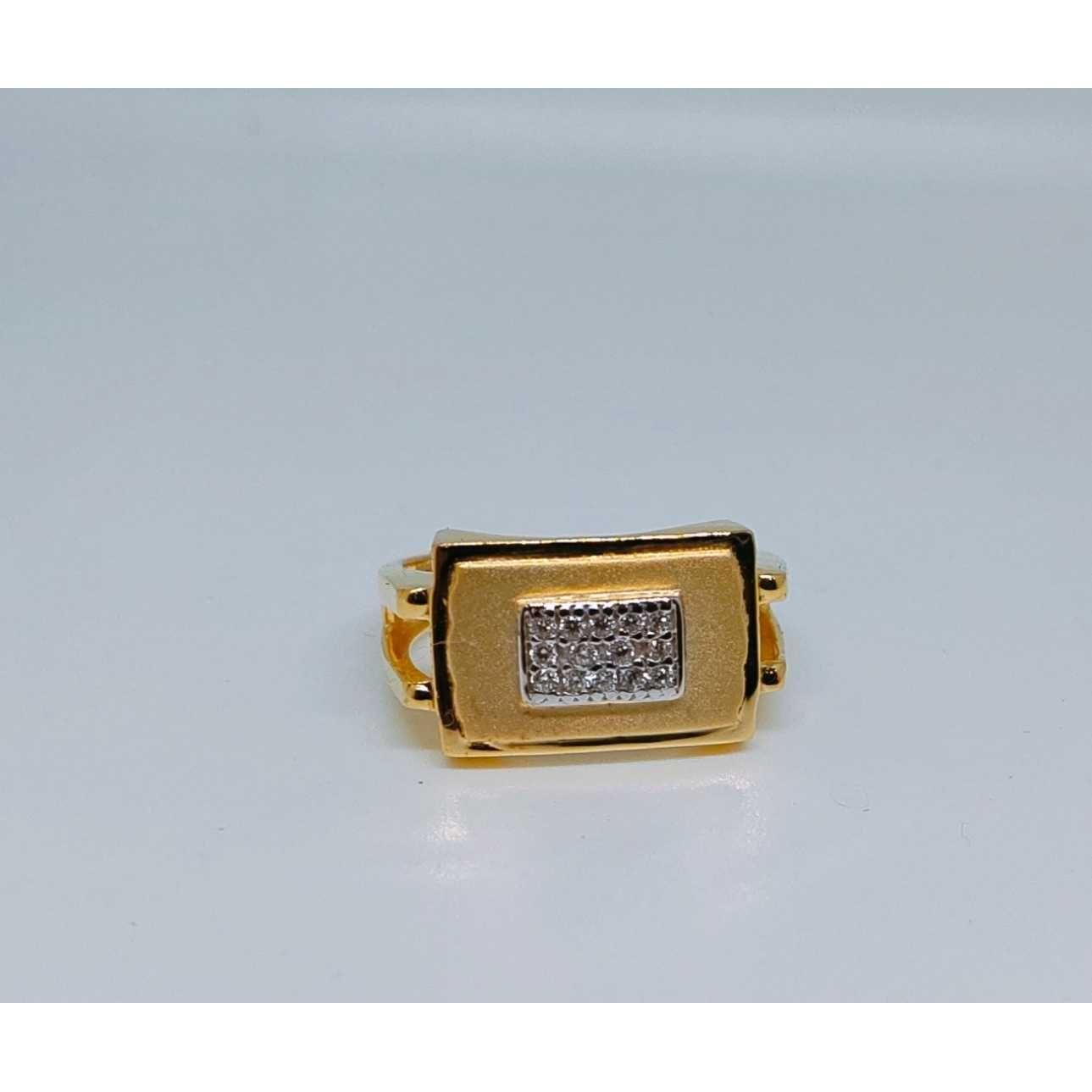 22k Gents Fancy Gold Ring Gr-28650