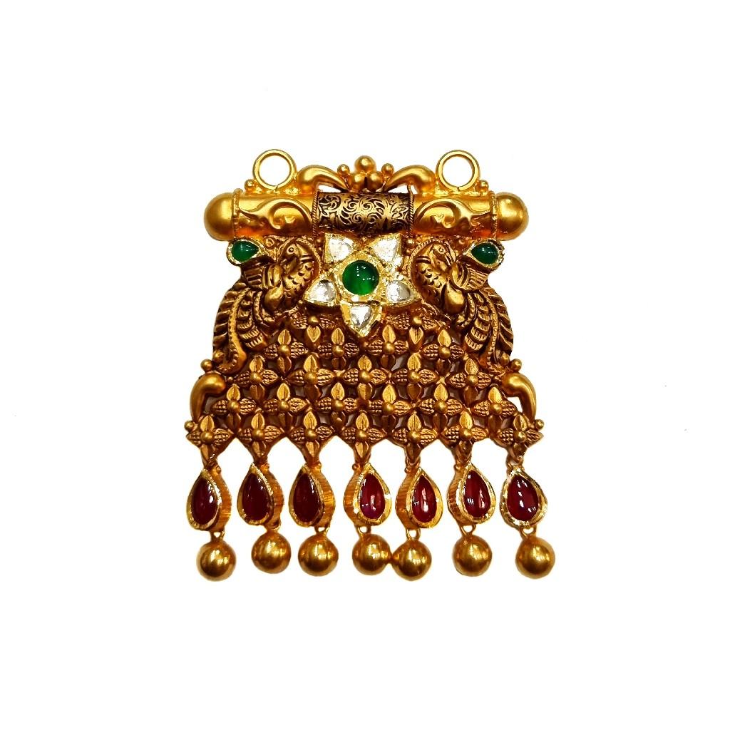22K Gold Designer Mangalsutra Pendant MGA - MGP0026