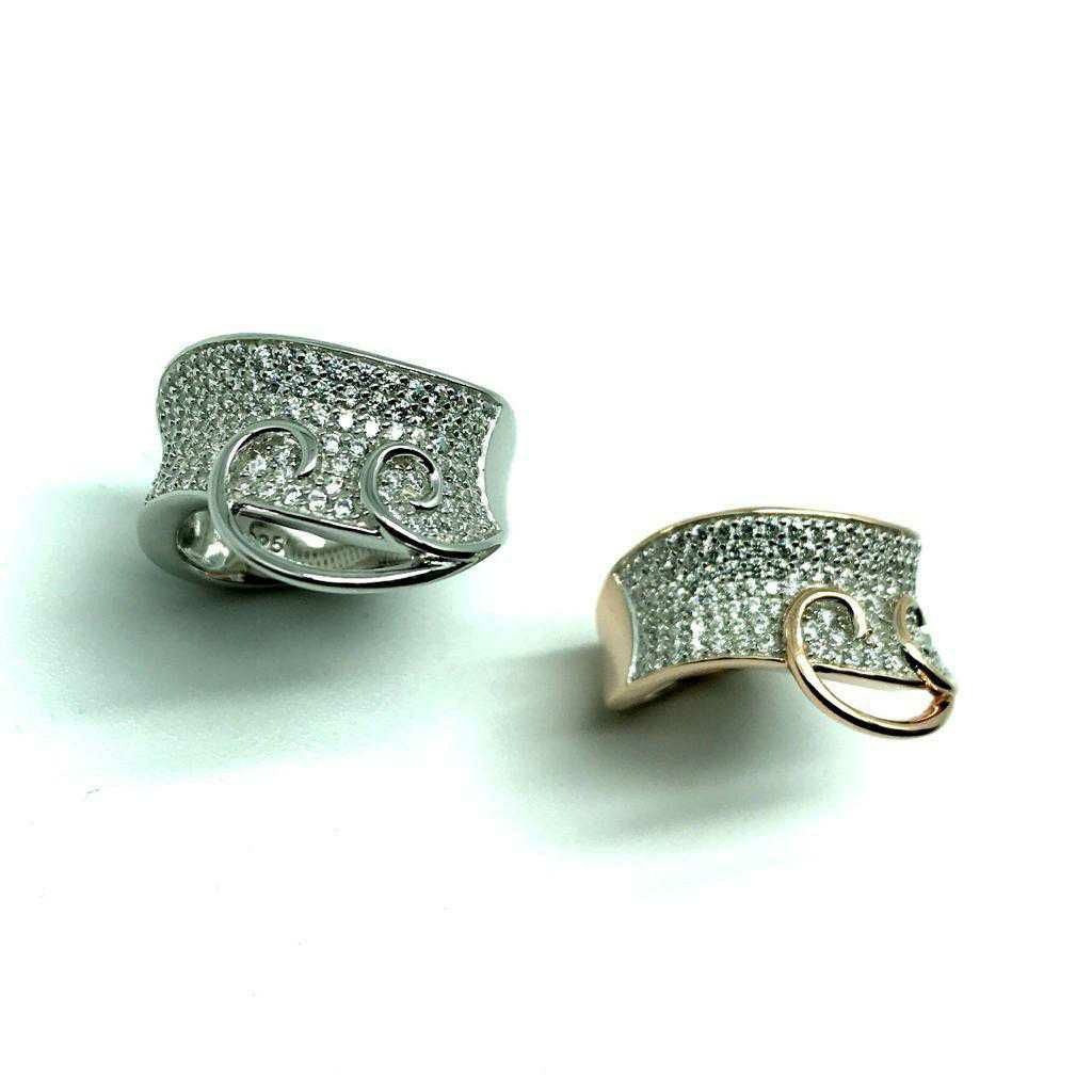 92.5 Sterling Silver Hendle Style Dezine Ring Ms-4063
