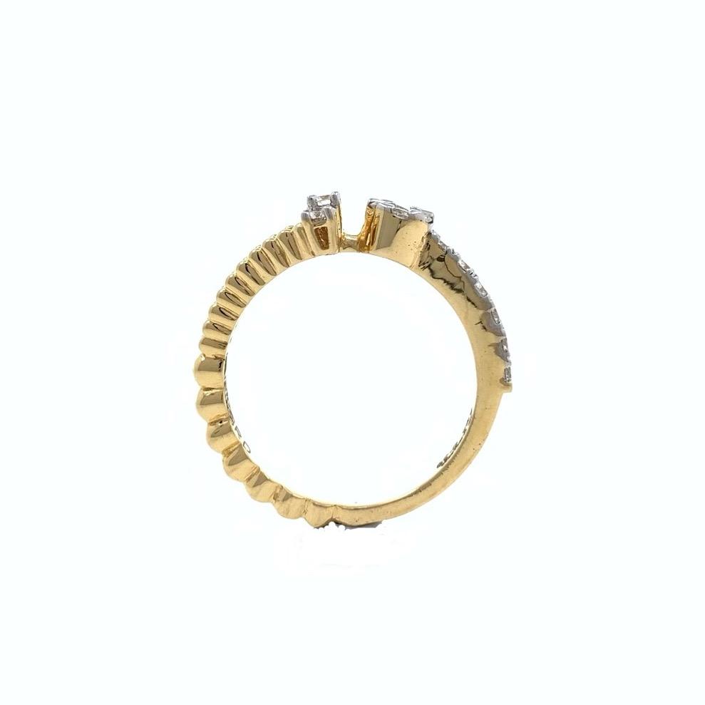 Mignonne Diamond Ring in 18k Yellow Gold - 3.770 grams - VVS EF 0.39 carats - 0LR61