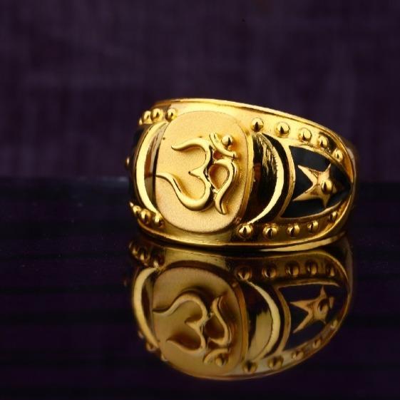 22 carat gold hallmark designer gents god rings RH-GR635
