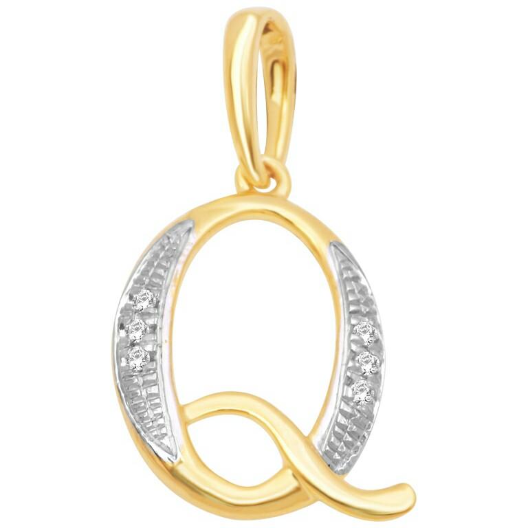 18k gold real diamond pendant mga - rp0017