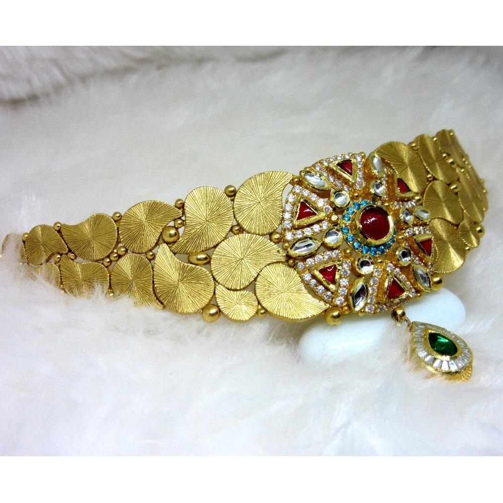 Gold hm916 antique designer jadtar set