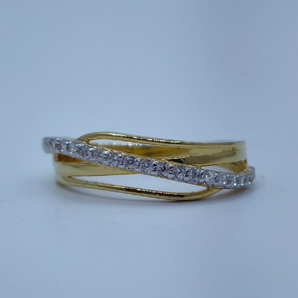 22k/916 cz gold ladies ring
