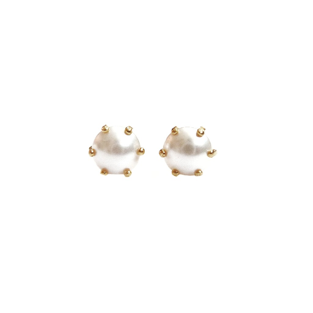 22K Gold Pearl Tops