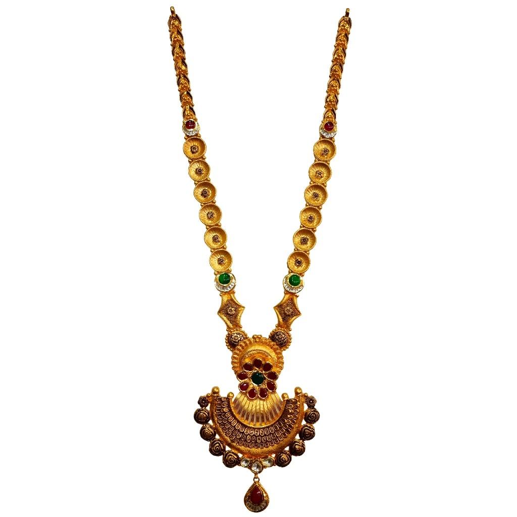 22k gold designer necklace set mga - gls0103
