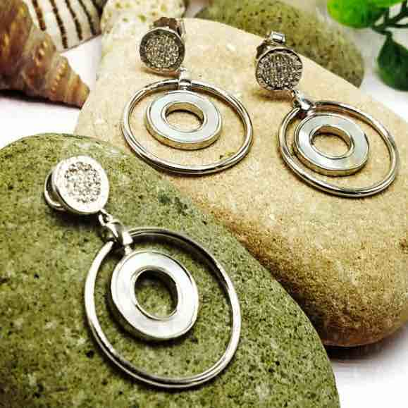 Italian 925 sterling silver pendant set