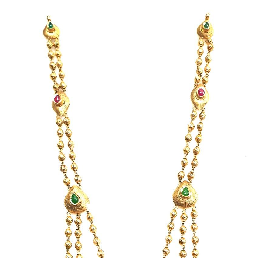22k Gold Antique Designer Necklace MGA - GLS092