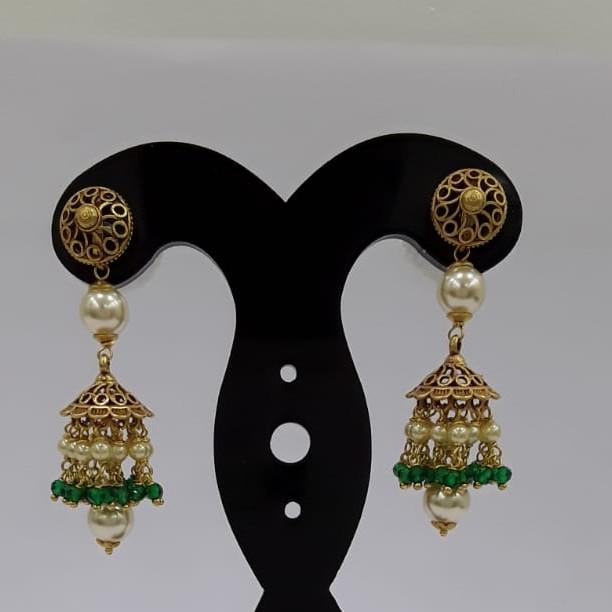 22Kt Yellow Gold Ziel Earrings For Women