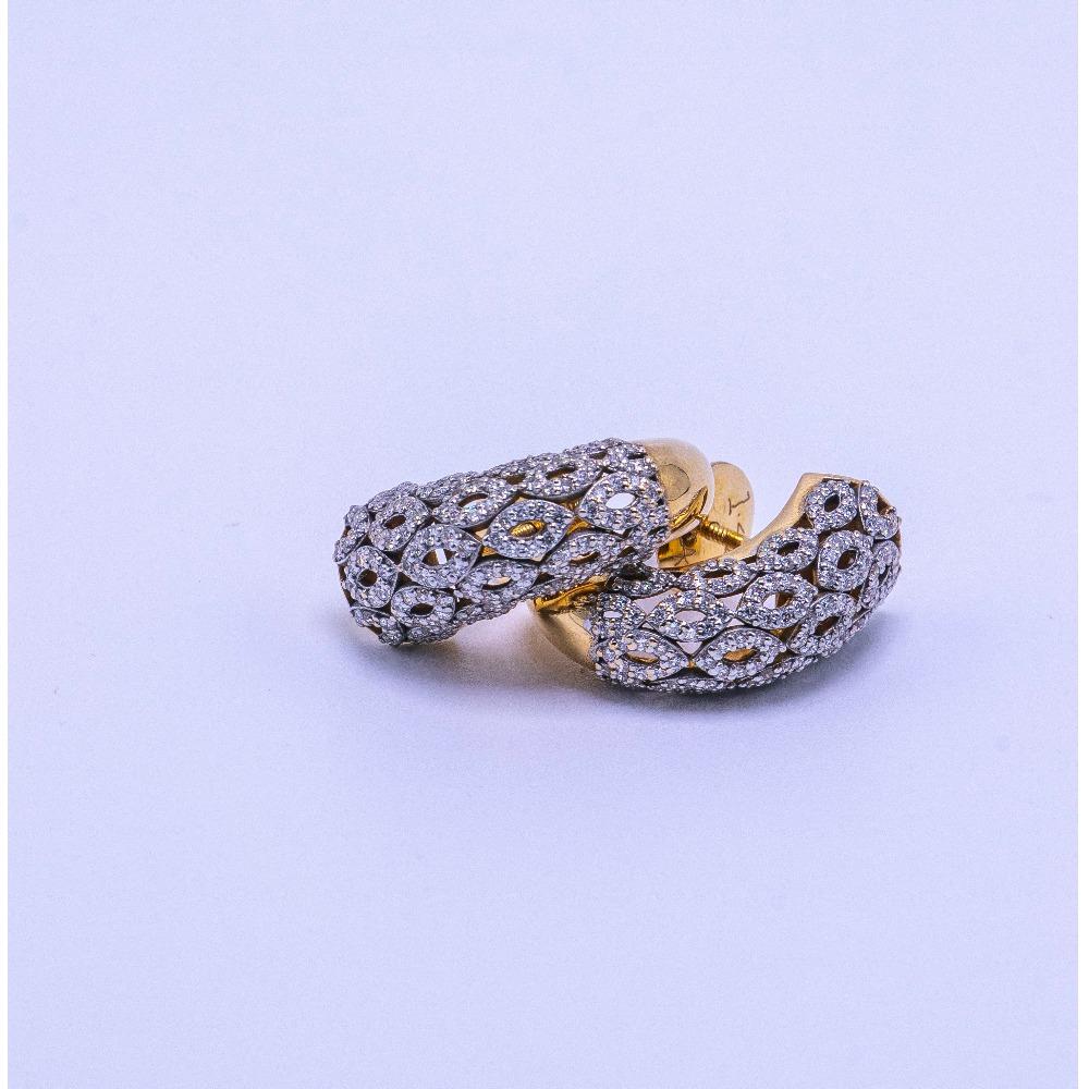 18k gold diamond bali agj-er-150