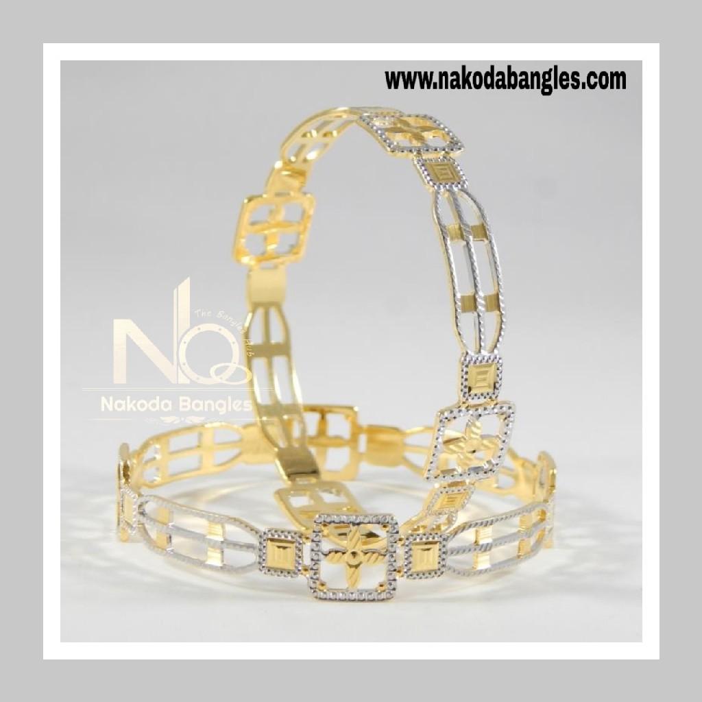 916 Gold CNC Bangles NB - 708