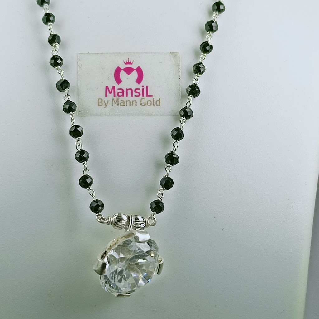 solitaire stone Silver 92.5 Mangalsutra