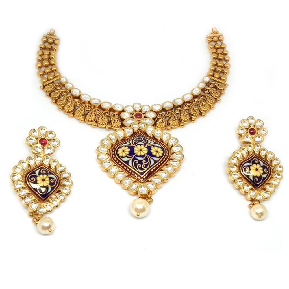 916 Antique Colorful Necklace Set - LJ-2