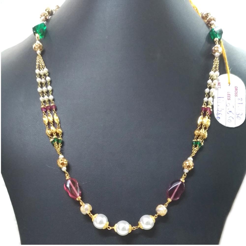 916 Gold Designer Ladies Mala Chain