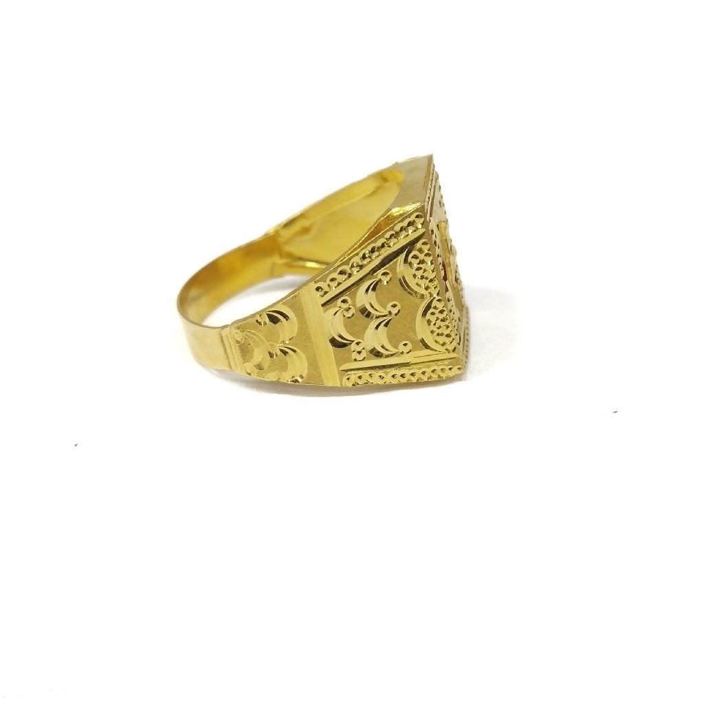 22k gold plain gent's  ring