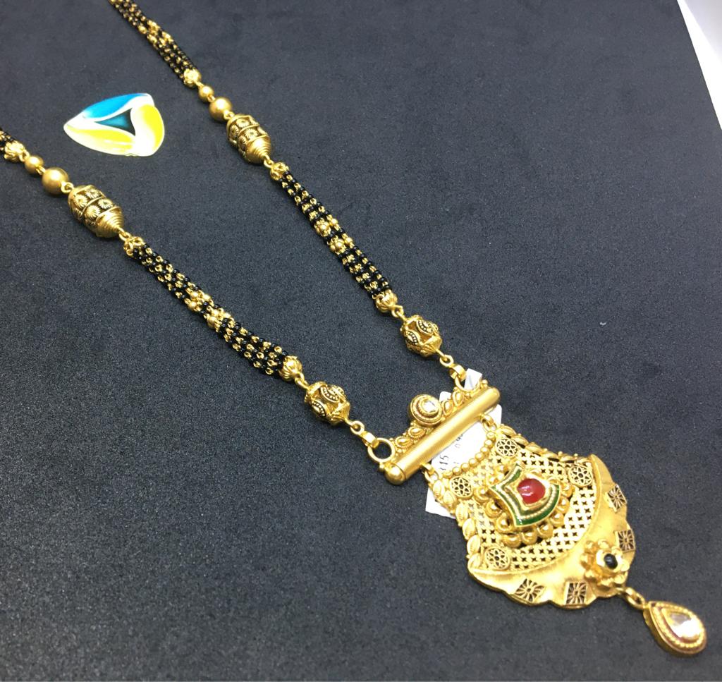 ANTIQUE piece of 22kt gold mangalsutra