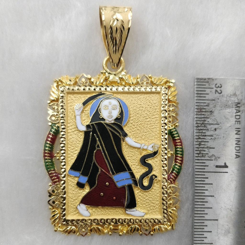 916 Gold Fancy Mogal Maa Pendant