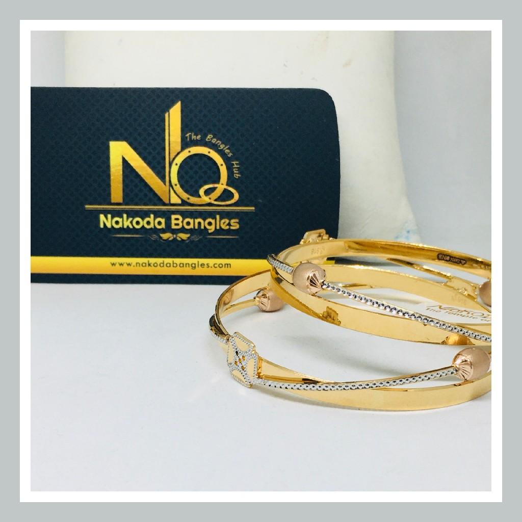916 Gold CNC Bangles NB - 713