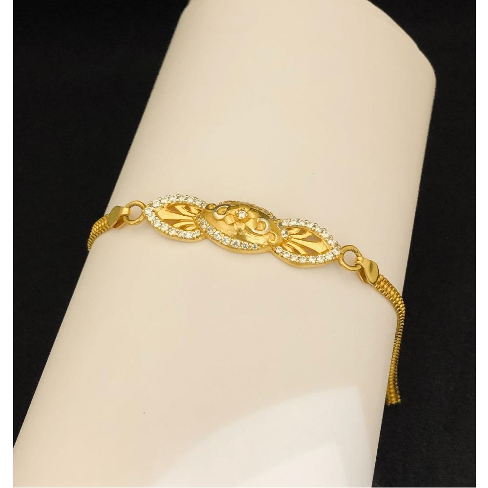 22kt, 916 Hm, gold and diamond designer bracelet for women JKB094