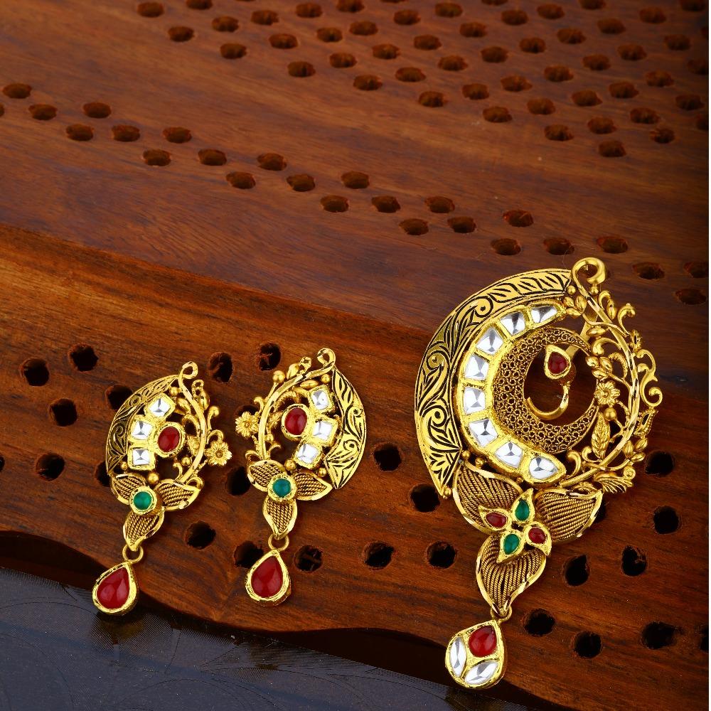 916 Gold Hallmark Trendy Pendant Set