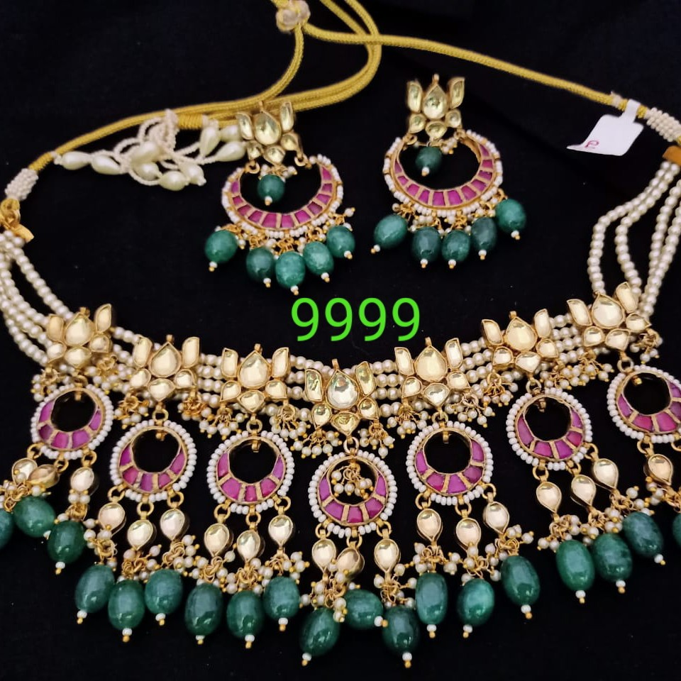 Half moon designer necklace set#dcns009
