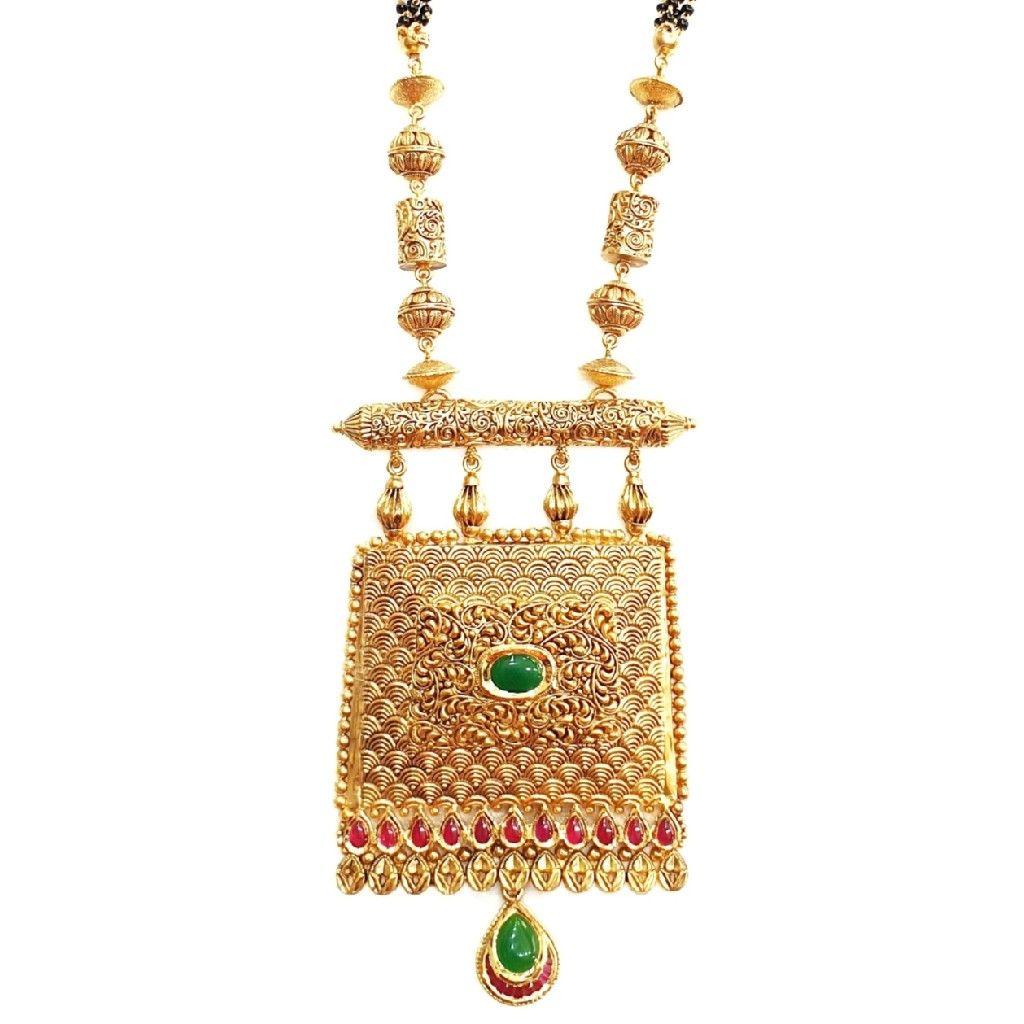 22K Gold Antique Mangalsutra MGA - GM008