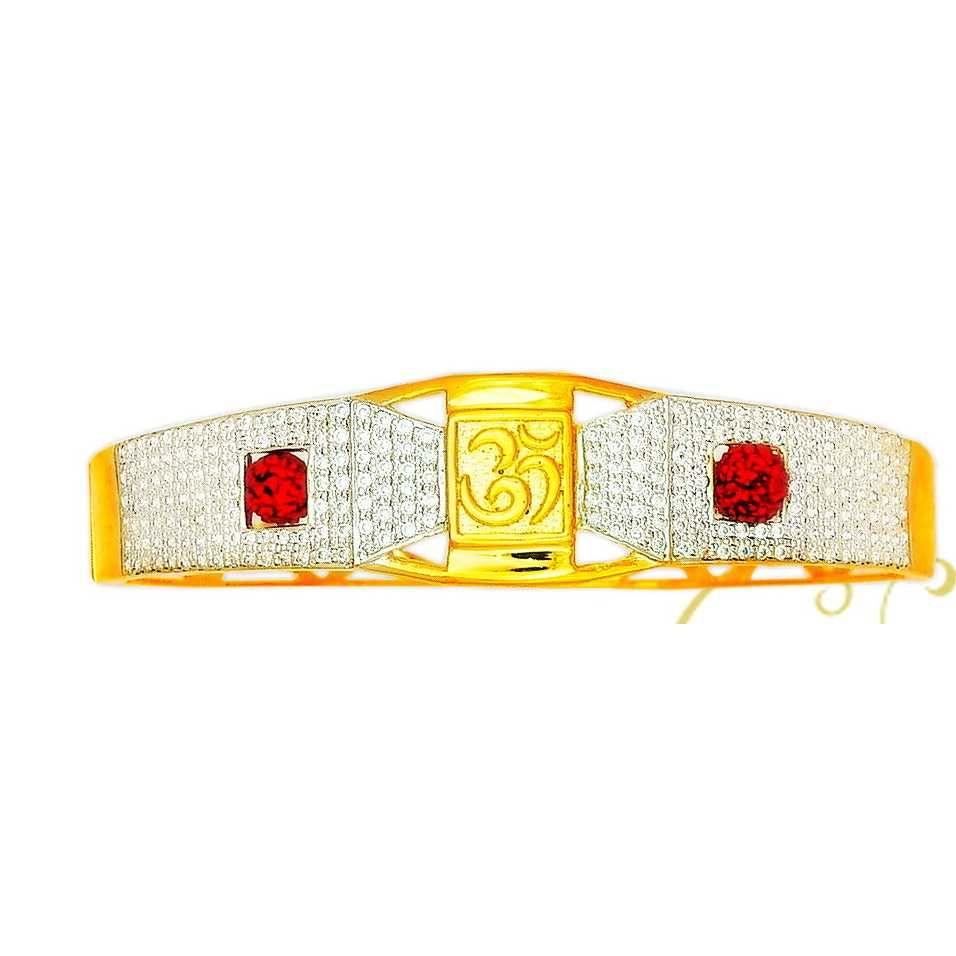 22K/916 Gold Om Shape Kada